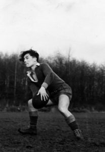 UBC rugby player Tom Nishio  (1939) Photo: UBC A.M.S./University Archives