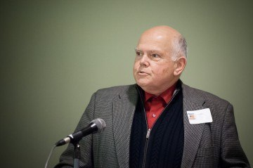 University of Victoria history professor John Price speaks the Addressing Injustice symposium in March 2012. Photo by Don Erhardt